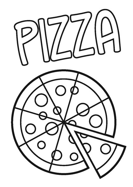 Pizza colouring pages imagui for Coloring pages of pizza