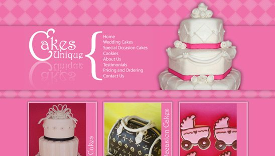 cakes unique website design