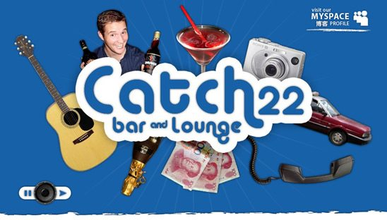 Catch22 logo, website and myspace design package