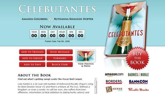 Celebutantes Book Myspace page