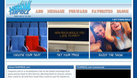 Fanprice Tickets Custom Myspace Design