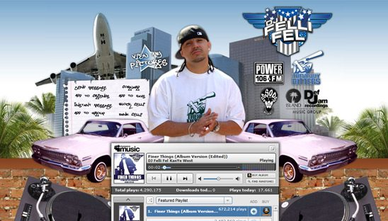 DJ Felli Fel Myspace page