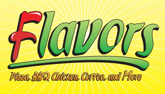 Flavors Cafe business card design