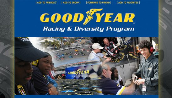 Good Year Racing Diversity program Myspace page
