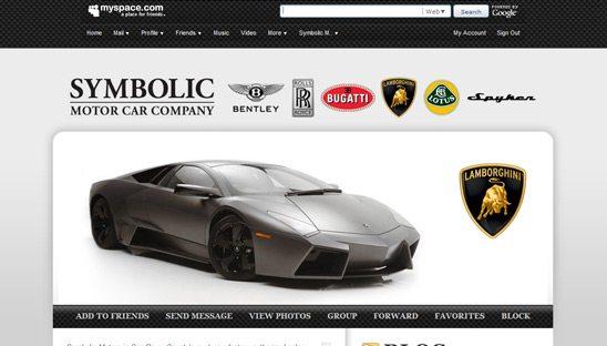 Symbolic Motor Car Company Myspace page