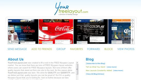 Your Free Layout Myspace Design