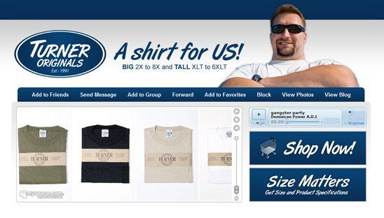 Turner Originals Myspace Redesign