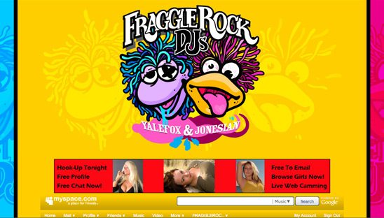 Fragglerock DJs Basic Myspace Design Package