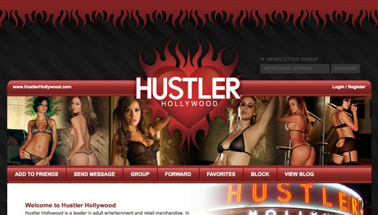 Hustler Hollywood Myspace Design Page