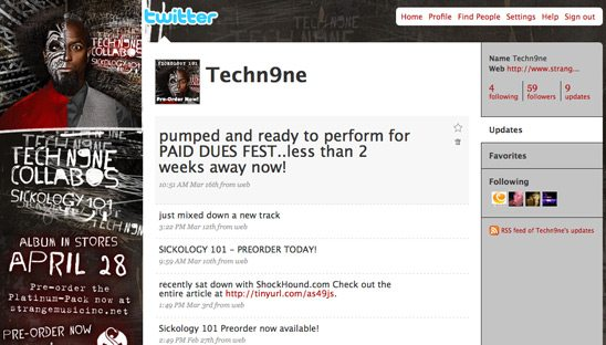 Tech N9ne Twitter Background Design
