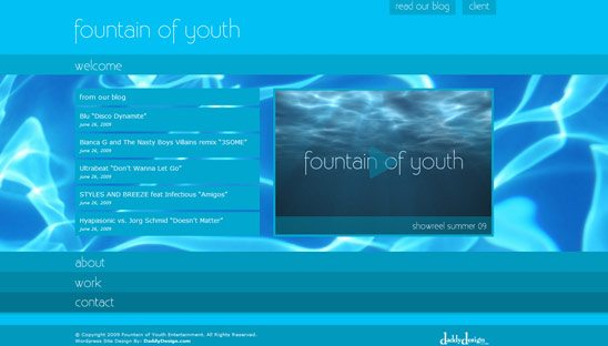 Fountain of Youth Wordpress Design