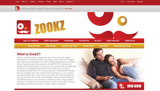 ZookZ Advanced Myspace Design