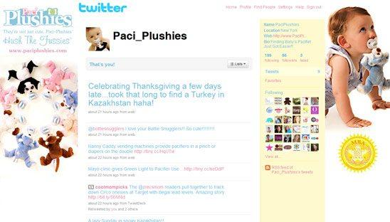 Paci Plushies Twitter Theme Design