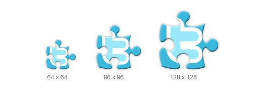 Social Puzzle Icon Sizes