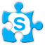 skype social network icon