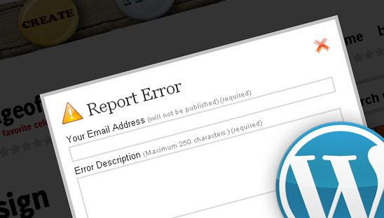 Report Error WP Plugin