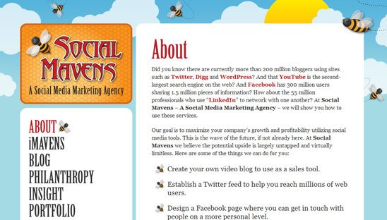 Social Mavens Wordpress Design