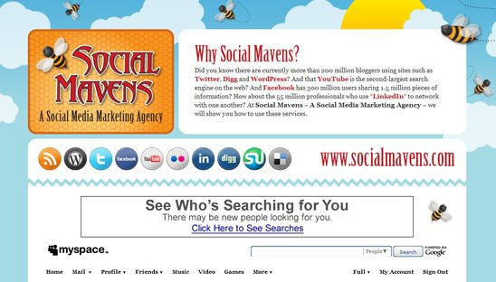 Social Mavens Myspace Design 2.0