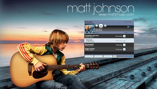 Matt Johnson band Myspace Design