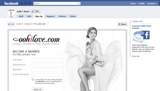 Custom Facebook Iframe Application