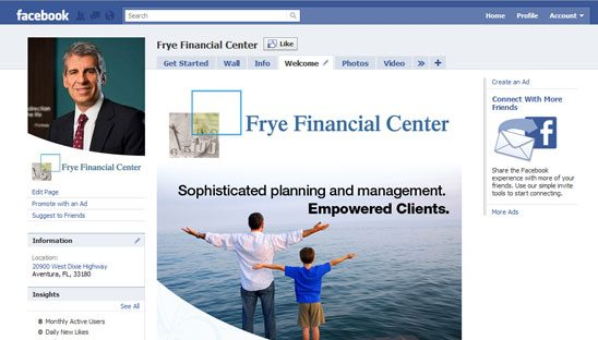 Financial Facebook Design