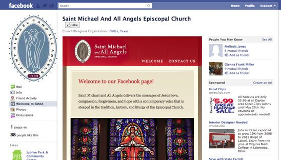 Saint Michael Church Facebook Design