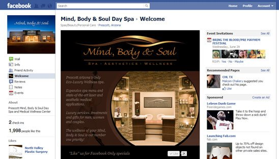 Mind, Body & Soul Day Spa Facebook Design