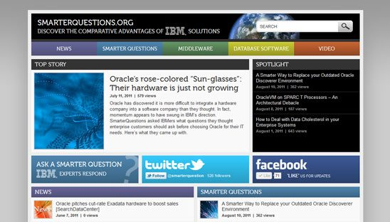 IBM Smarter Questions Wordpress Blog Design