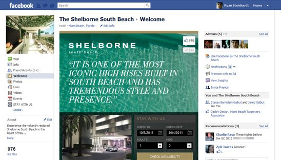 Raffaello, Sanctuary, Bentley, Shelborne and Menin Hotel Facebook Designs