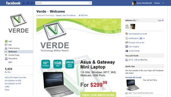 Verde Fan Gate Facebook Design