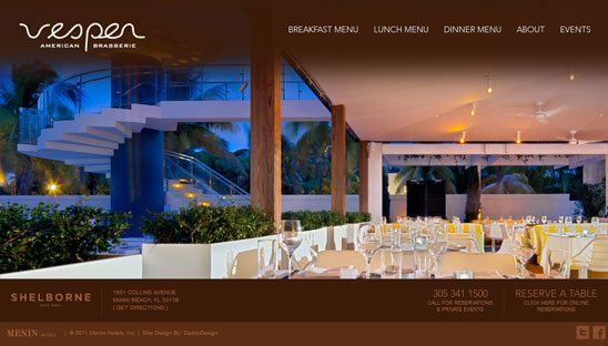 Restaurant Splash Site Design