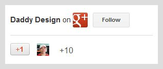 Google+ badge with customized border using CSS
