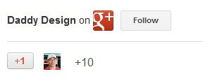 Google+ badge with border removed