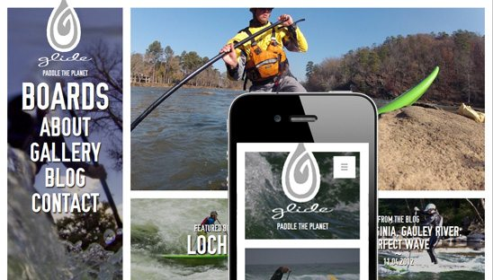 glide sup mobile wordpress design