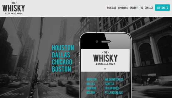 whisky extravaganza responsive design