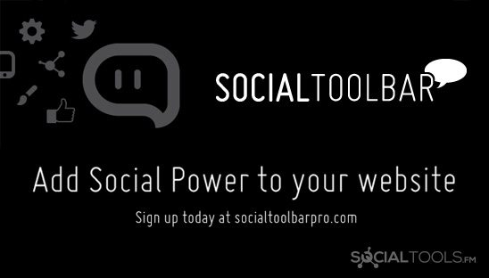 social toolbar for websites