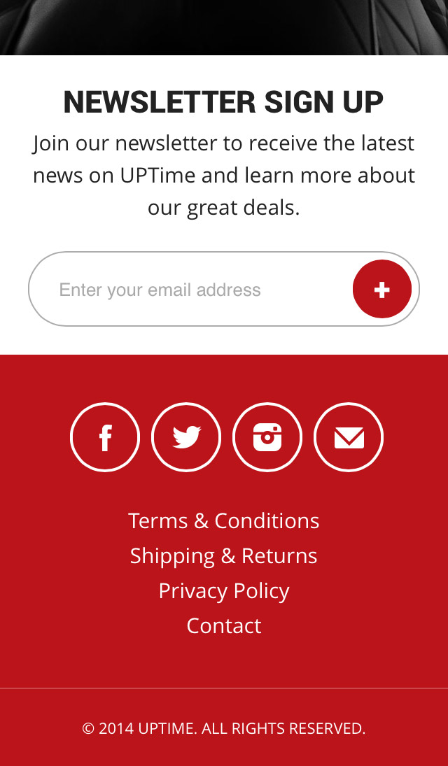 Mobile Responsive - Footer