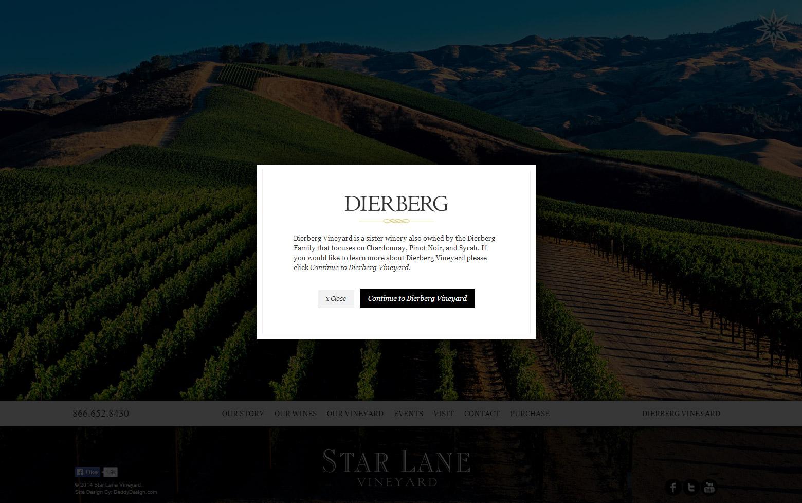Lightbox to Exit to Dierberg Website