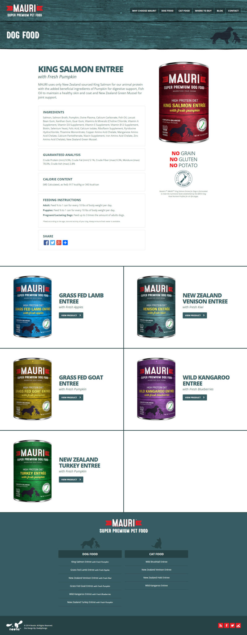 Dog Food Product Page Layout