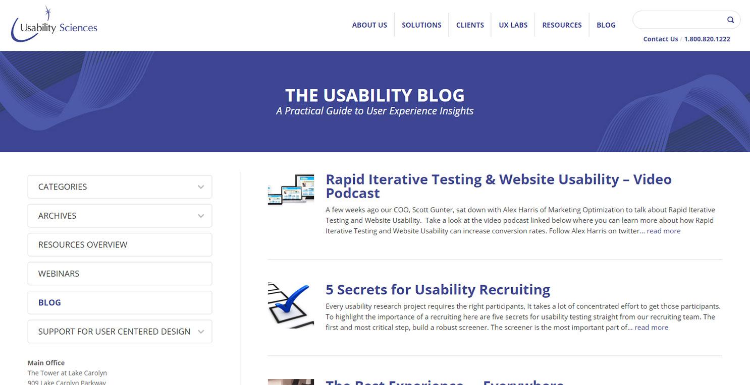 usability science blog