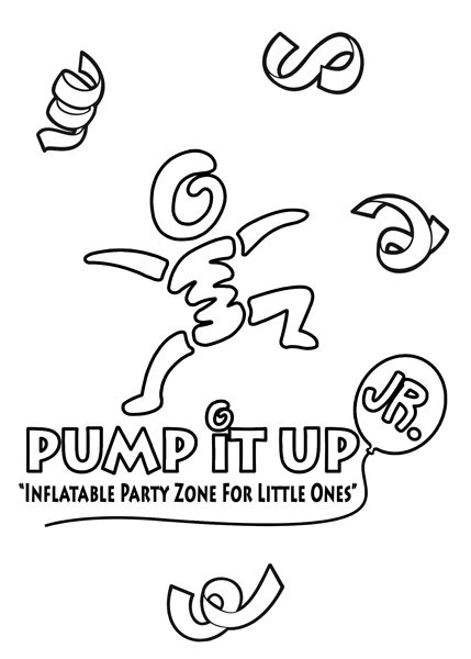 Pump It Up Coloring And Game Book Design