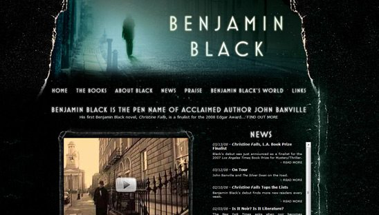 Benjamin Black Website Design