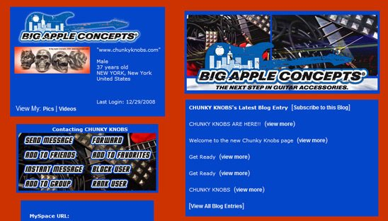 Big Apple Concepts Basic Myspace Design