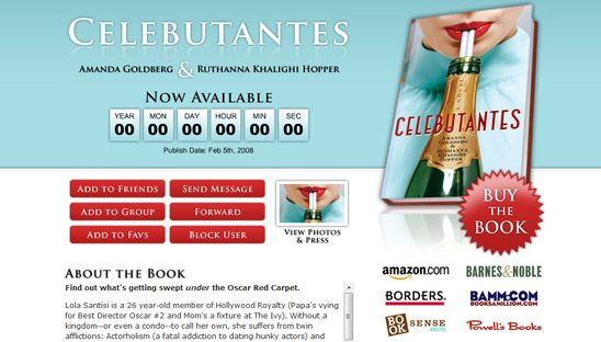 Celebutantes Book Myspace page