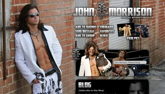 WWE's John Morrison myspace design