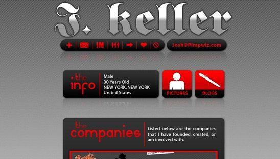 Josh Keller Personal Myspace Design Page