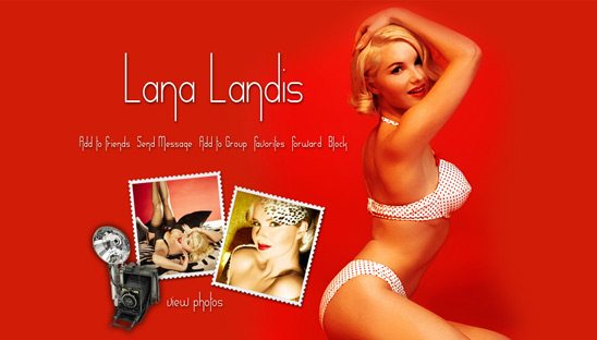 lana landis myspace design