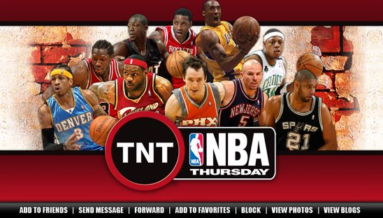 NBA on TNT 2008 Myspace page