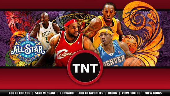 NBA on TNT 2008 All-Star Myspace page