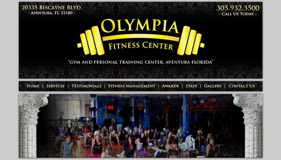 Olympia Gym Web Design